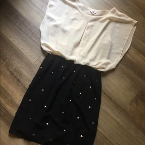 one clothing Studded Chiffon Dress